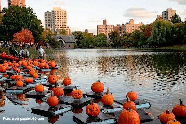 Central Park Pumpkin Flotilla