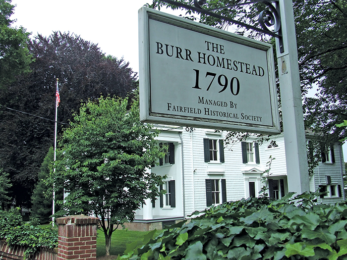 burr homestead sign