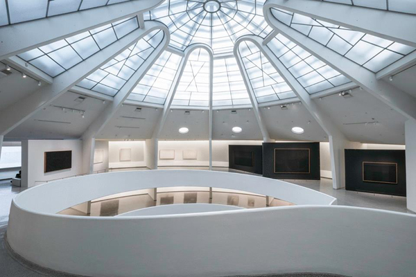 An interior view of the Solomon R. Guggenheim Museum in New York City.