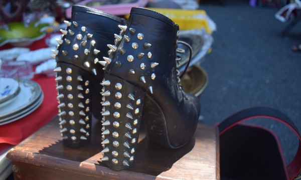 hell's kitchen flea spiked boots