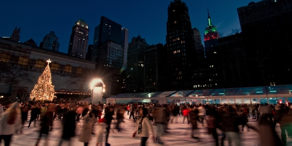 bryant park rink ice skating nyc