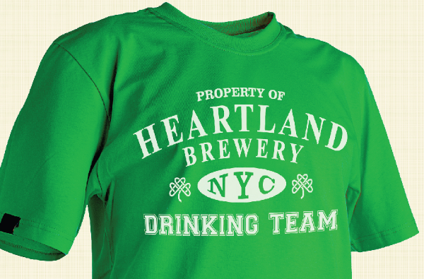 heartland brewery drinking team