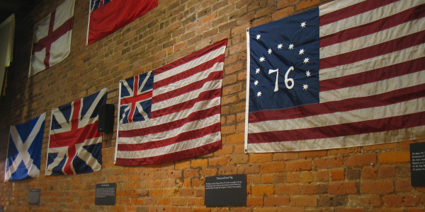 flags at fraunces tavern