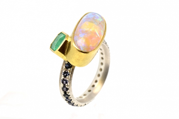 Opal Emeral spinel ring by Chris Boland LOOT Museum of Art and Design