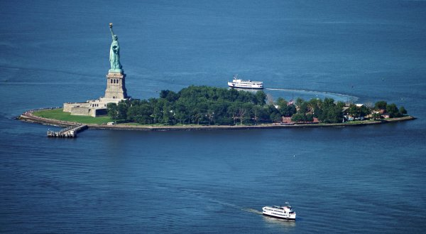 statue of liberty from one world observatory