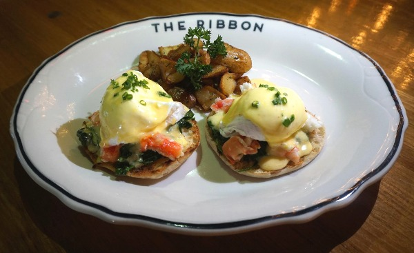 the ribbon eggs benedict mother's day
