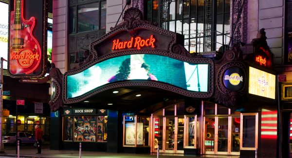 hard rock cafe new york marquee