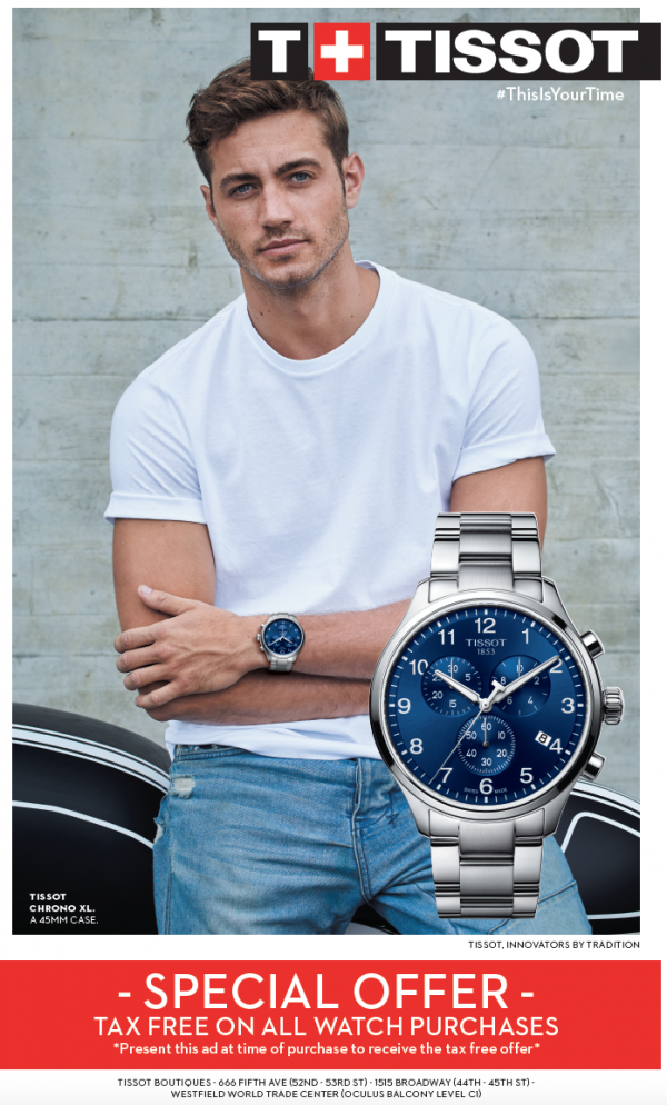 tissot free tax coupon discount code