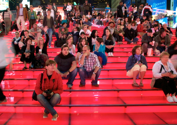 tktks red stairs times square