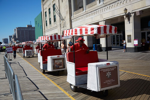 The Rolling Chairs on the Atlantic City Boardwalk
