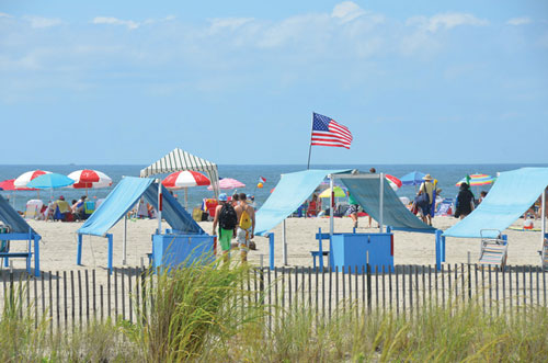 One of the many beaches in Cape May, NJ