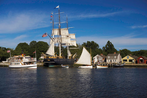 Ships at Mystic Seaport in Mystic, CT
