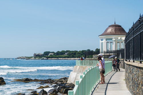 The Cliff Walk in Newport, RI