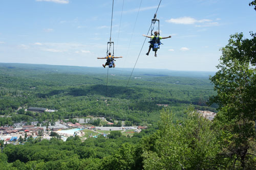 A Dual Zip Line over the Poconos Mountains