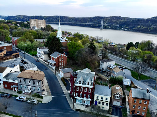 A view from the Walkway Over the Hudson in Poughkeepsie, NY