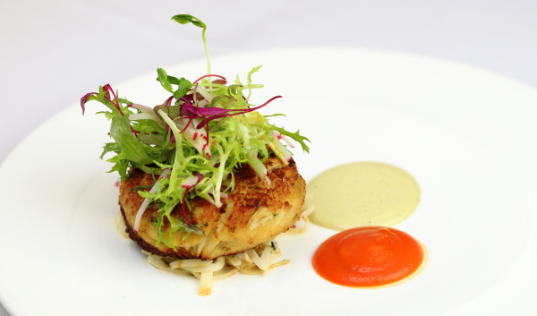 Crab Cakes And Pickled Garnish