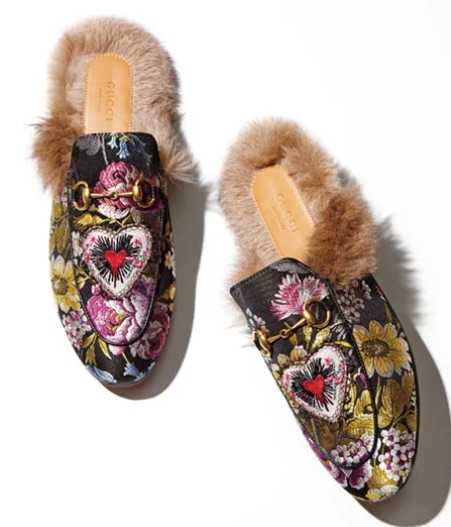 Gucci fur-lined loafers