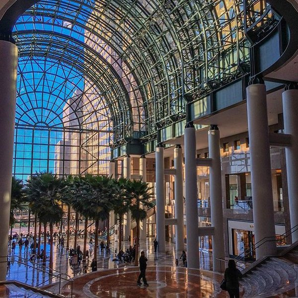 The interior archway of Brookfield Place.
