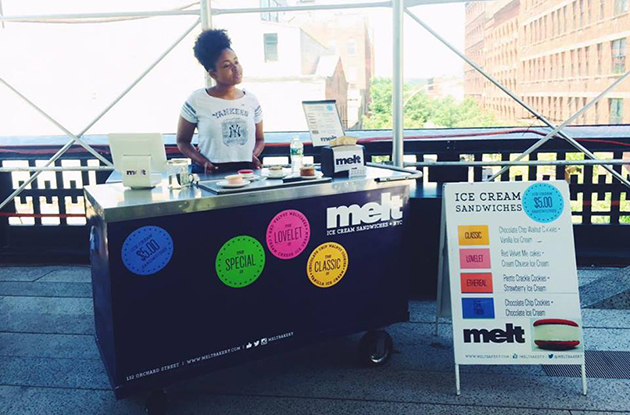 melt ice cream stand on the highline nyc