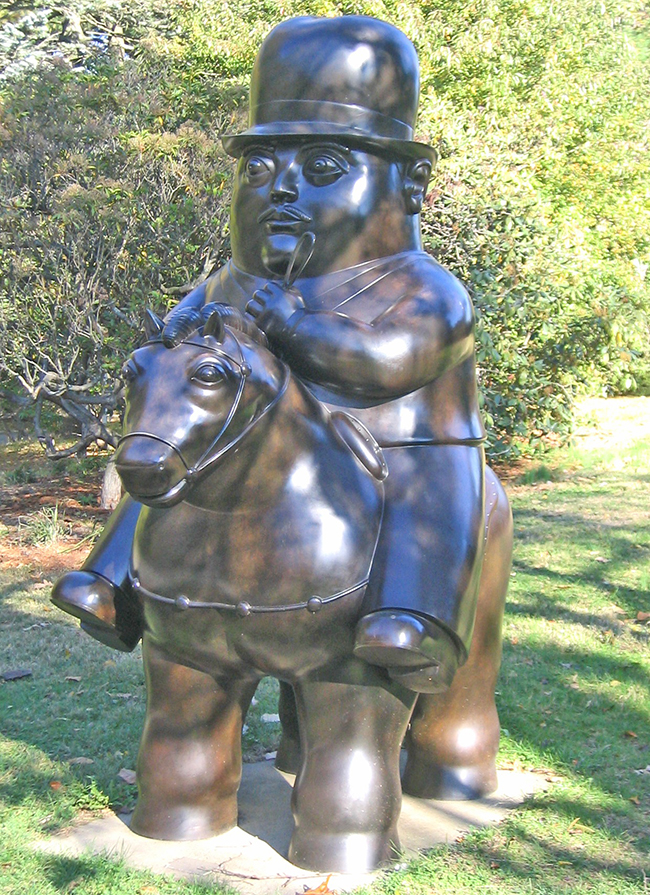 botero man on horseback