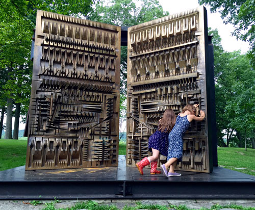 Some sculptures are allowed to be touched at Storm King Art Center
