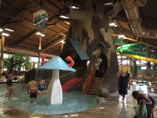 The water park at the Timber Ridge Hotel in Lake Geneva, WI