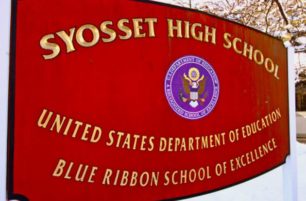 syosset high school sign