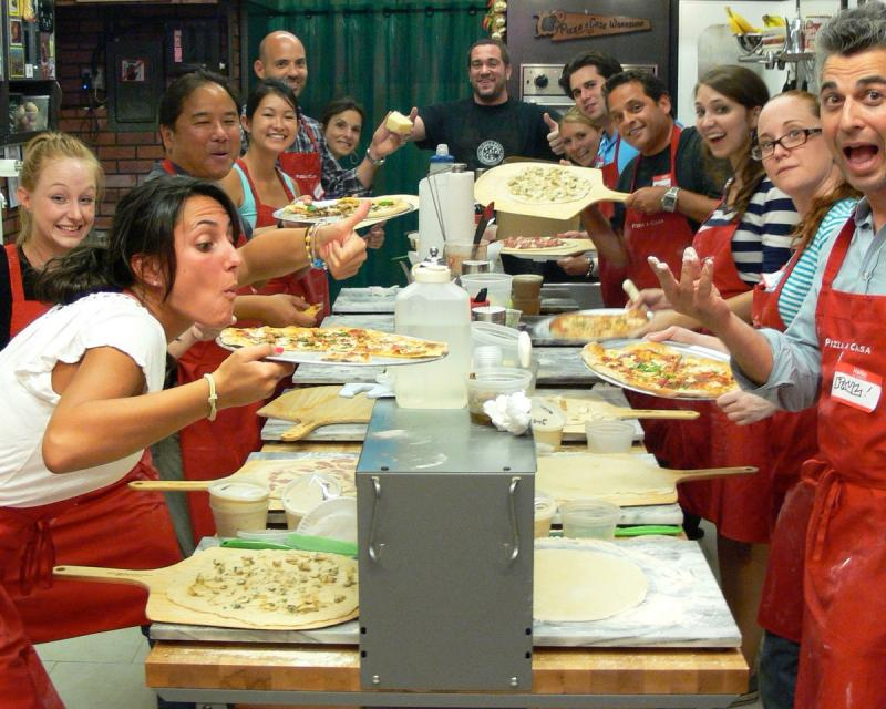 pizza school lower east side group fun