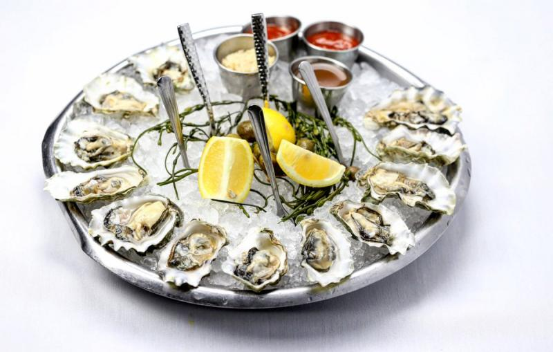 oysters sea fire grill half shell