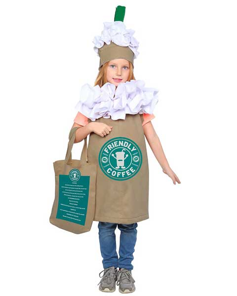 frappuccino halloween costume for kids