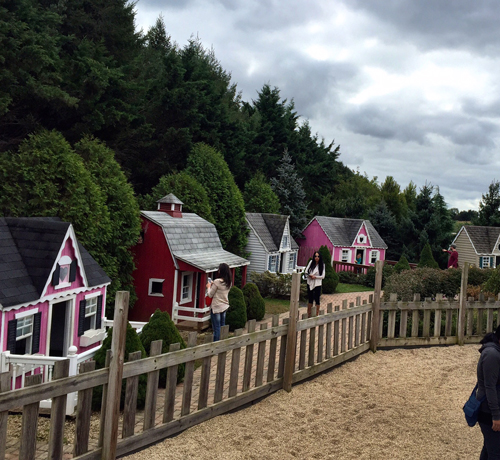 Little houses at White Post Farms Playground