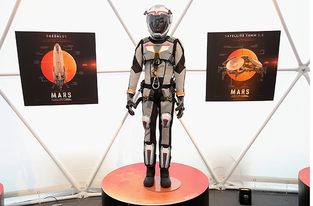 space suit from MARS on Nat Geo