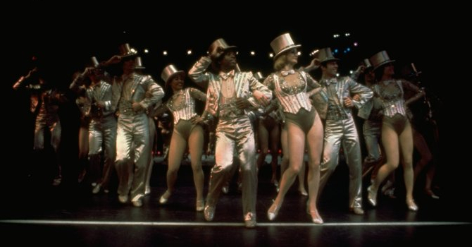 The New York cast of A Chorus Line in 1976