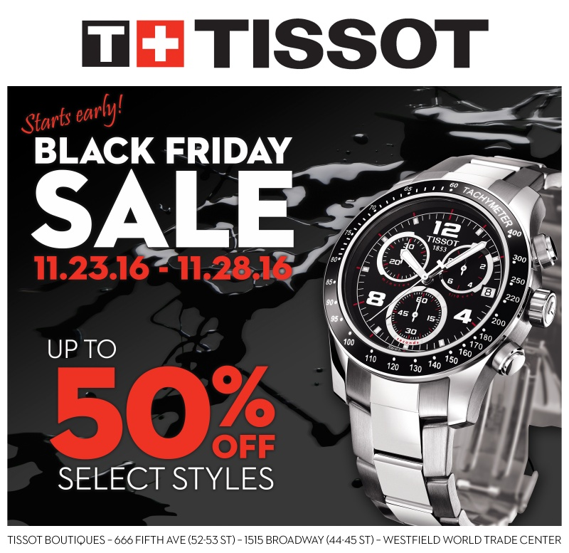 tissot black friday sale