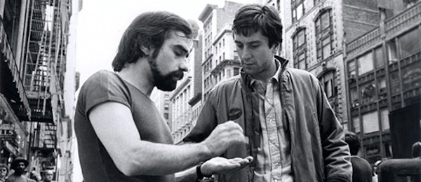 Scorsese Deniro on set of Taxi Driver