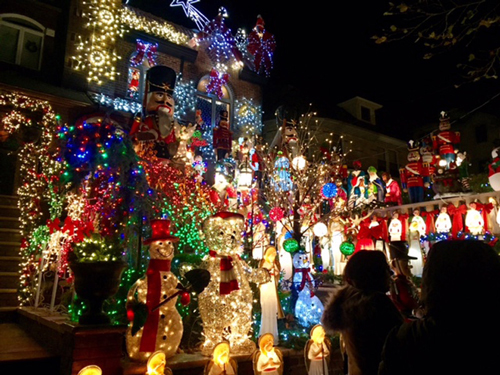 some of the christmas lights of dyker heights brooklyn