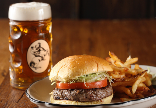 heartland brewery beer burger