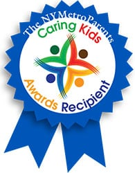 caring kids award ribbon