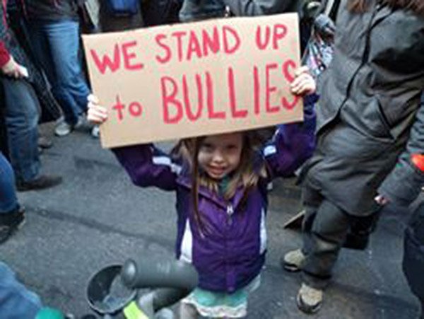 we stand up to bullies