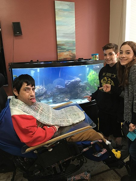 group home fish tank