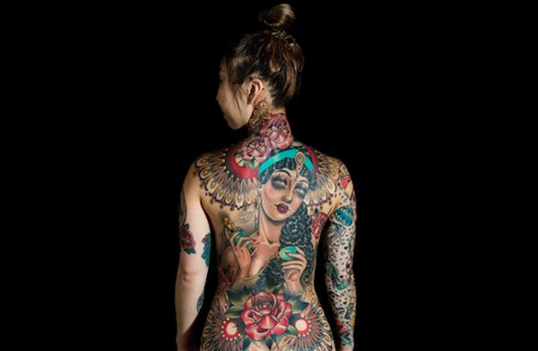 Tattoo art Rose Hardy on Zoe Brown