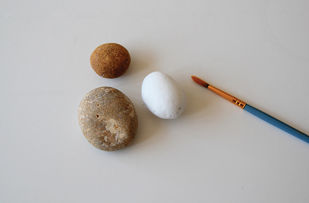 step 1 paint stones white