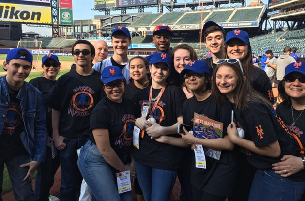 comsewogue students first place winners of Mets strike out bullying contest