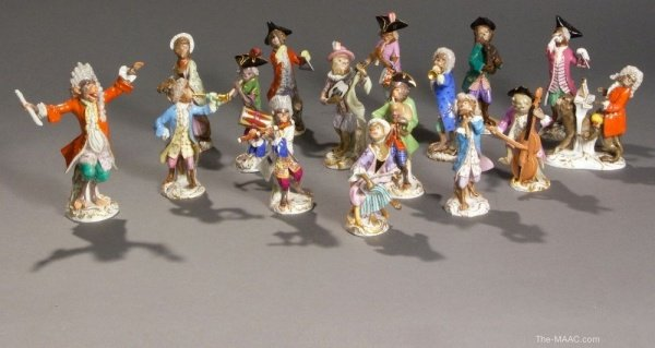 monkey band meissen porcelain