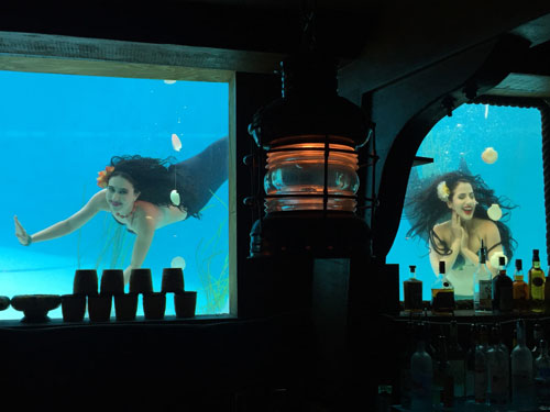 Mermaids at the Wreck Bar in Fort Lauderdale