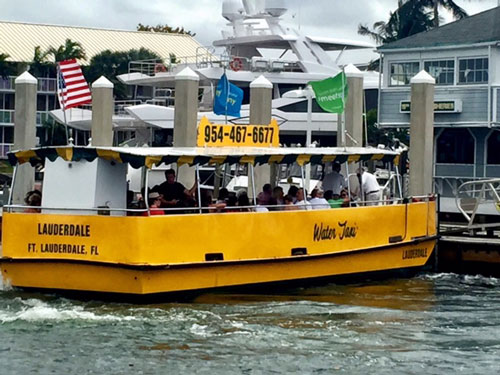 The water taxi in Ft. Lauderdale, Florida