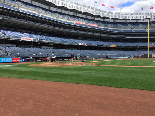 A view of the field at Yankee Stadium