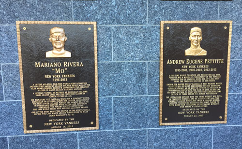 Mariano Rivera and Andy Petite Honored at Monument Park in Yankee Stadium