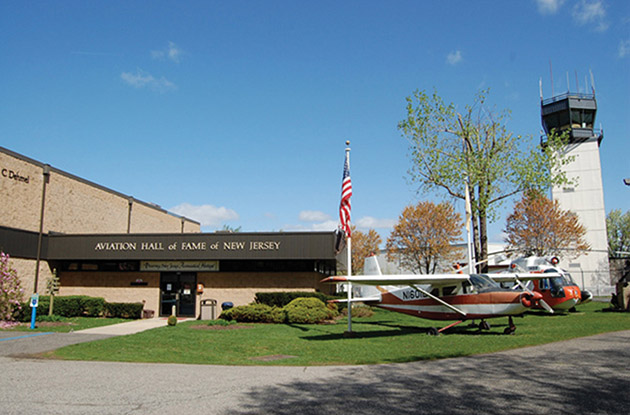 entrance to the aviation hall of fame and museum of new jersey