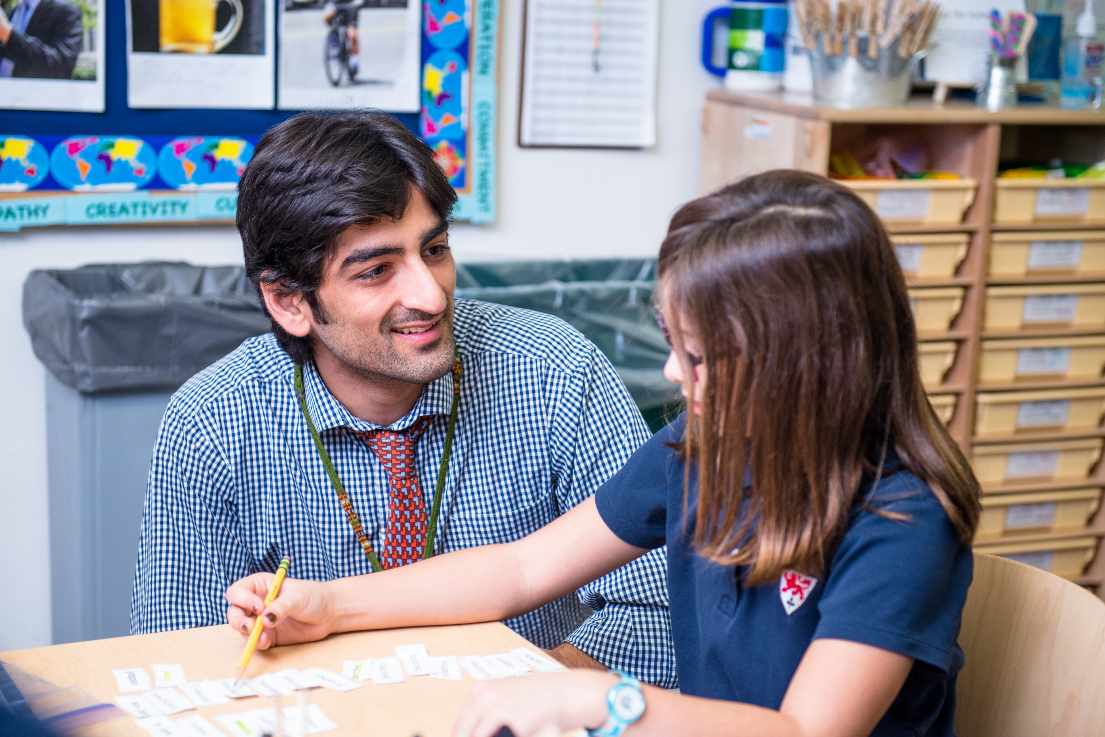 Dwight students benefit from personalized learning in classrooms with small teacher-student ratios. -